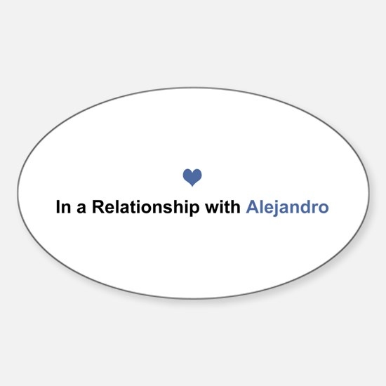 Alejandro Relationship Oval Decal