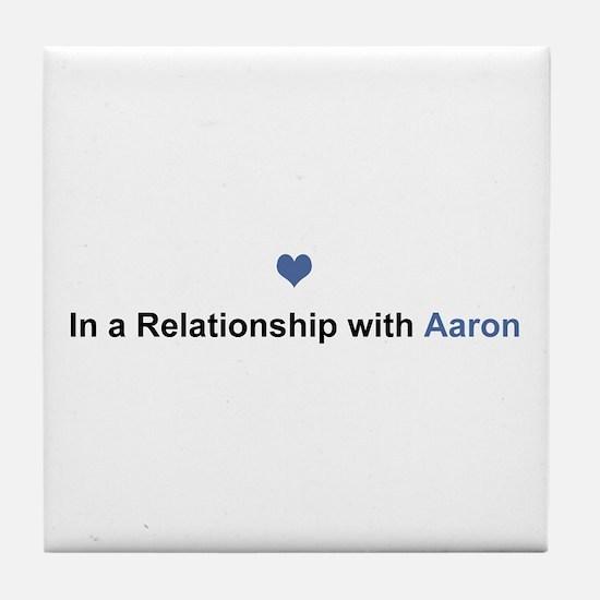 Aaron Relationship Tile Coaster