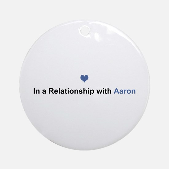 Aaron Relationship Round Ornament