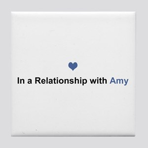 Amy Relationship Tile Coaster