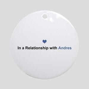 Andres Relationship Round Ornament