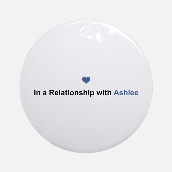 Ashlee Relationship Round Ornament