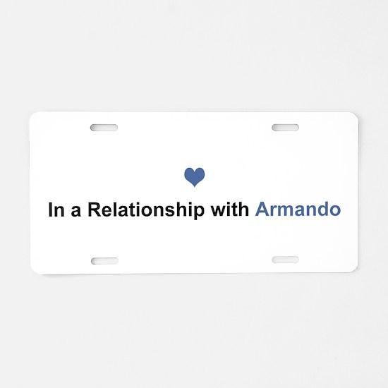 Armando Relationship Aluminum License Plate