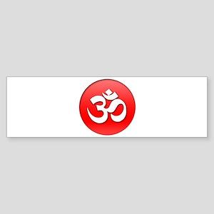 Om Red Button Sticker (Bumper)