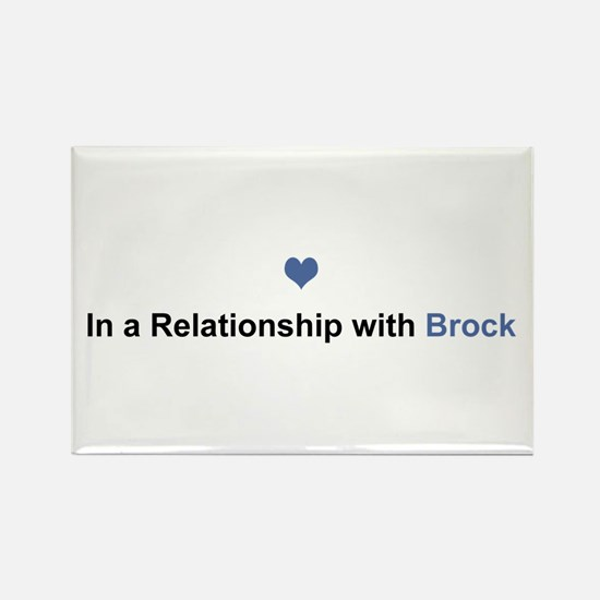 Brock Relationship Rectangle Magnet