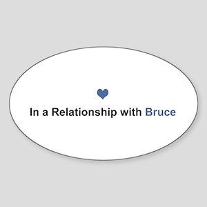 Bruce Relationship Oval Sticker