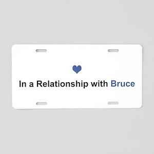 Bruce Relationship Aluminum License Plate