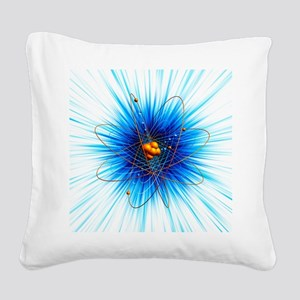 Atomic structure, artwork - Square Canvas Pillow