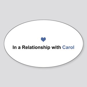 Carol Relationship Oval Sticker