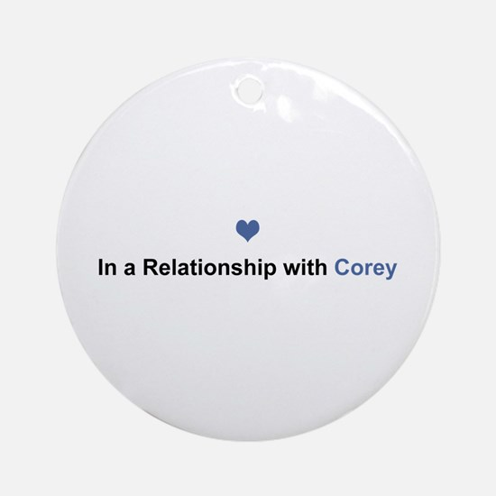 Corey Relationship Round Ornament