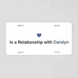 Carolyn Relationship Aluminum License Plate