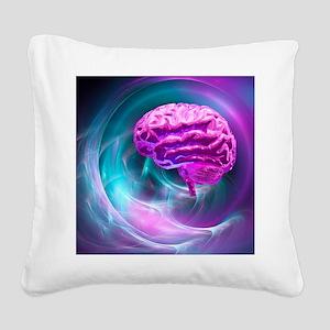 Brain research, conceptual artwork - Square Canvas