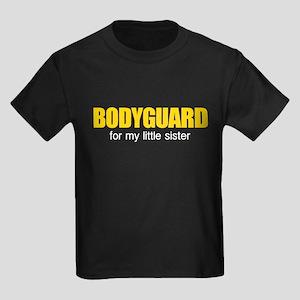 Bodyguard for my little sister Kids Dark T-Shirt