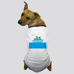 Boat in Blue Water Dog T-Shirt
