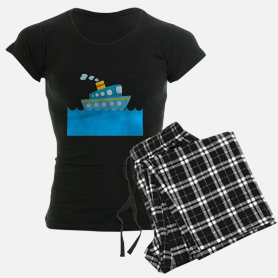 Boat in Blue Water Pajamas