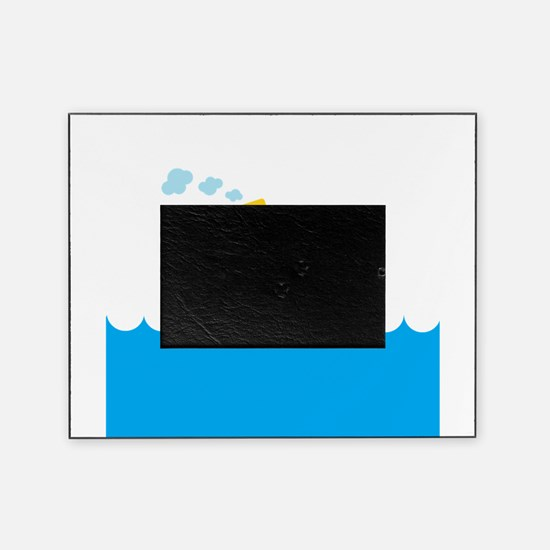 Boat in Blue Water Picture Frame
