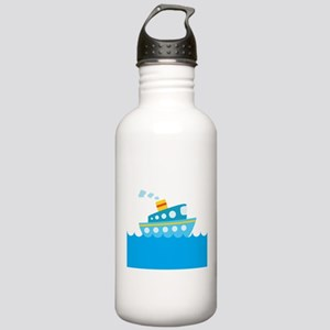 Boat in Blue Water Stainless Water Bottle 1.0L
