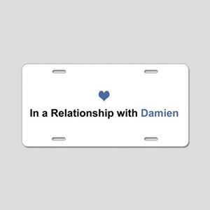 Damien Relationship Aluminum License Plate