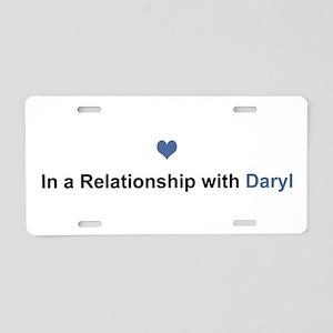 Daryl Relationship Aluminum License Plate