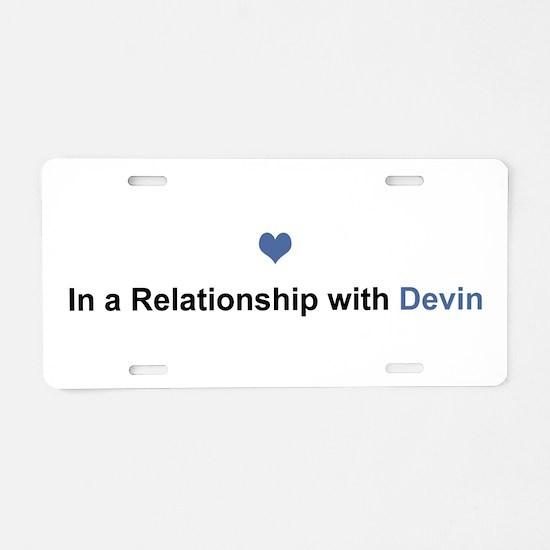 Devin Relationship Aluminum License Plate