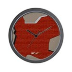 brick Wall Clock