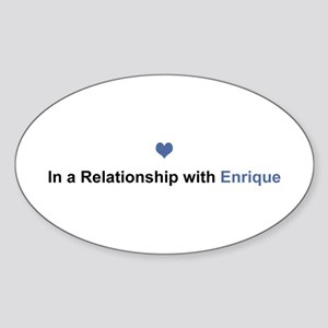 Enrique Relationship Oval Sticker