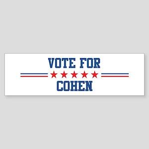 Vote for COHEN Bumper Sticker