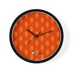 All In Orange Decor Wall Clock