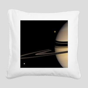 Saturn, Cassini image - Square Canvas Pillow