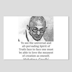 To See The Universal - Mahatma Gandhi Postcards (P