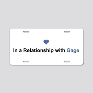 Gage Relationship Aluminum License Plate