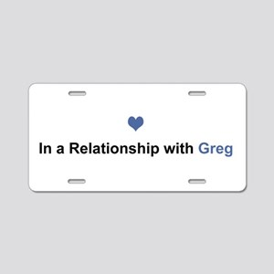 Greg Relationship Aluminum License Plate