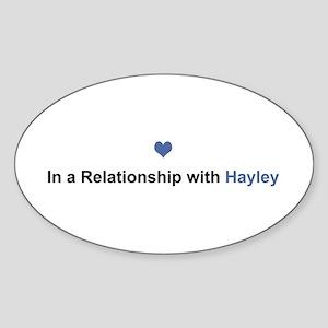 Hayley Relationship Oval Sticker