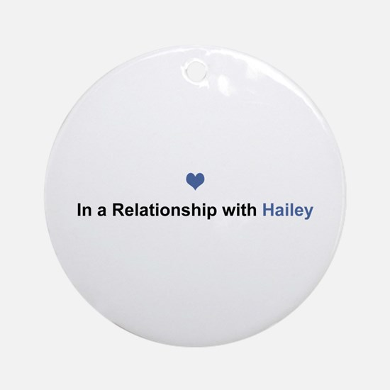 Hailey Relationship Round Ornament