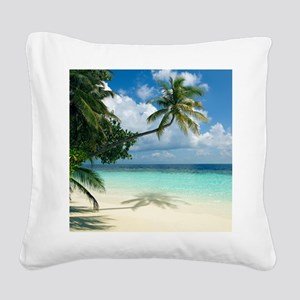 Tropical beach - Square Canvas Pillow