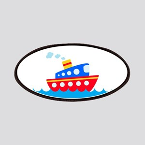 Blue and Red Boat Patches