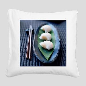 Dim sum - Square Canvas Pillow