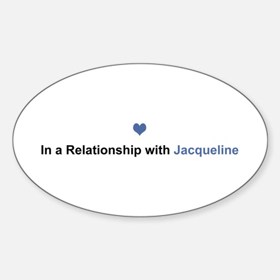 Jacqueline Relationship Oval Decal
