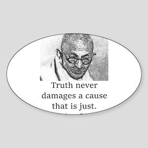 Truth Never Damages - Mahatma Gandhi Sticker