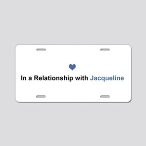 Jacqueline Relationship Aluminum License Plate