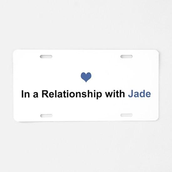 Jade Relationship Aluminum License Plate