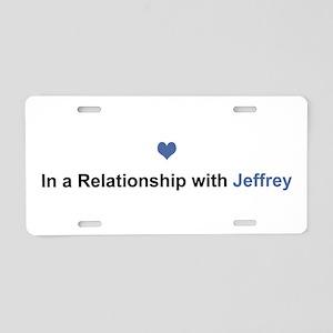 Jeffrey Relationship Aluminum License Plate