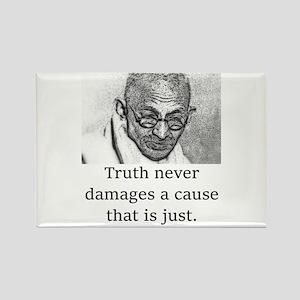 Truth Never Damages - Mahatma Gandhi Magnets