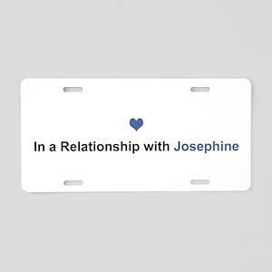 Josephine Relationship Aluminum License Plate