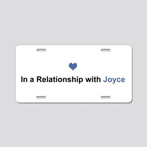 Joyce Relationship Aluminum License Plate
