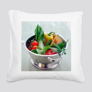 Fruit and vegetables - Square Canvas Pillow