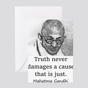 Truth Never Damages - Mahatma Gandhi Greeting Card