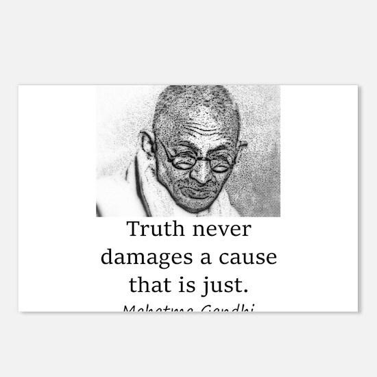 Truth Never Damages - Mahatma Gandhi Postcards (Pa