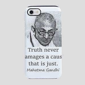 Truth Never Damages - Mahatma Gandhi iPhone 7 Toug