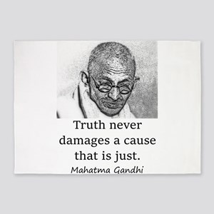 Truth Never Damages - Mahatma Gandhi 5'x7'Area Rug